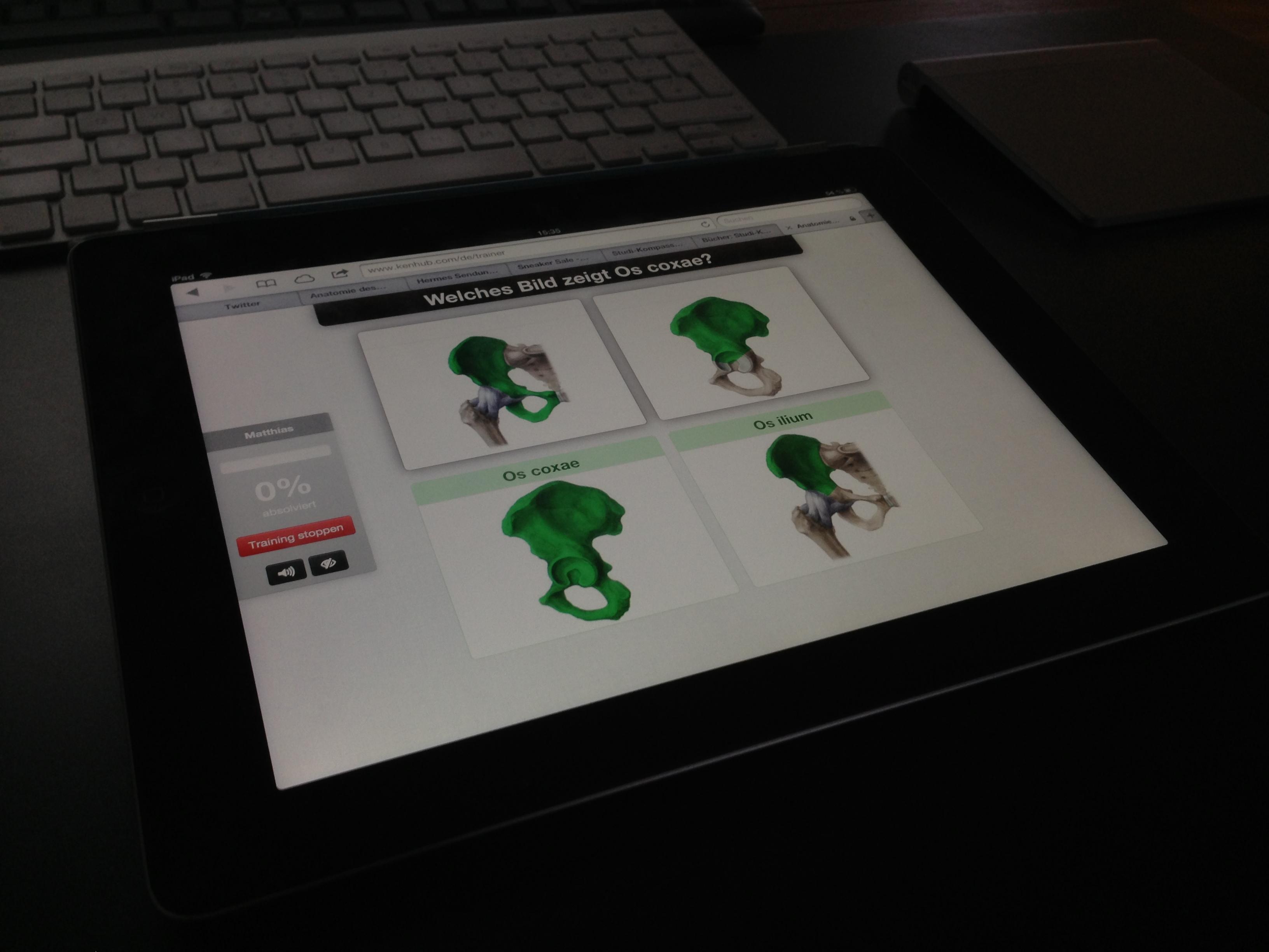 kenHub auf dem iPad