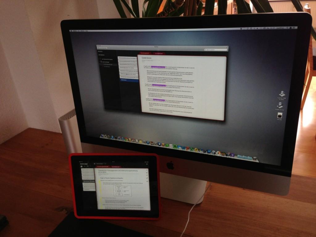 Outline Dokumente auf dem iPad und auf dem Mac