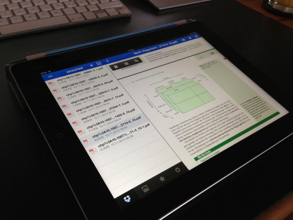 Die Dropbox-App auf dem iPad
