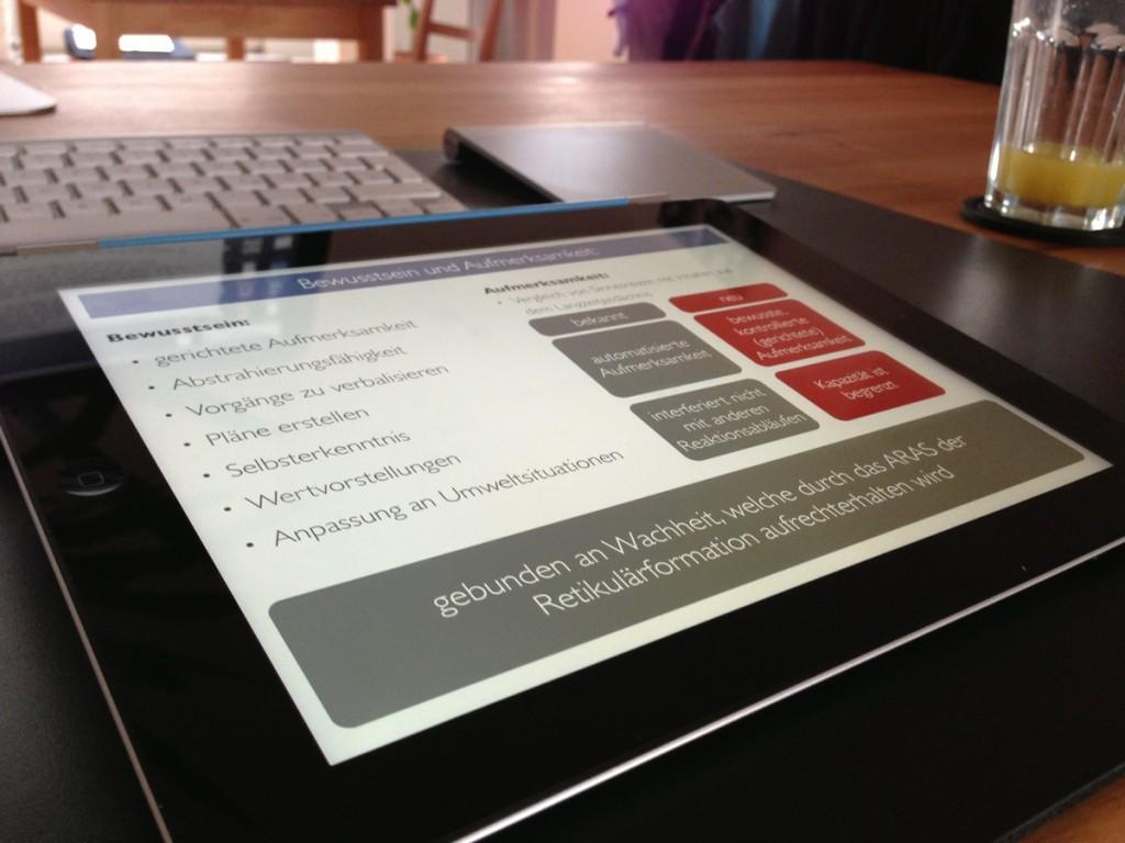 Dank Touch-Steuerung sind Präsentationen auf dem iPad schnell gemacht.
