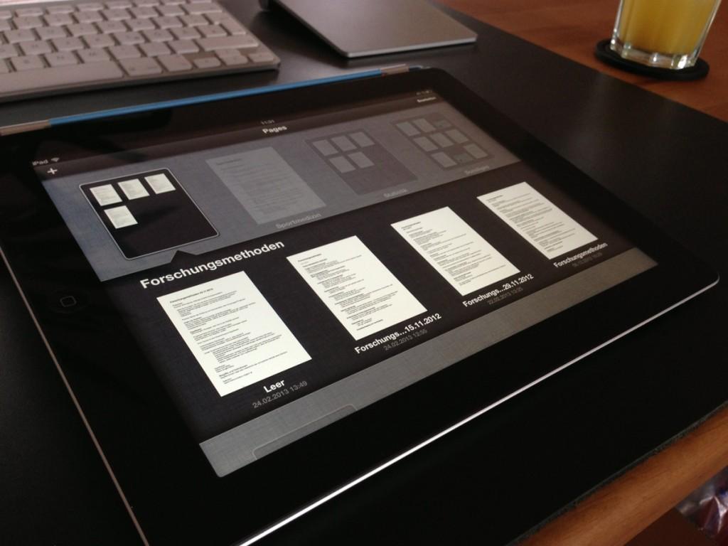 Dokumente lassen sich in Pages in Ordnern sortieren