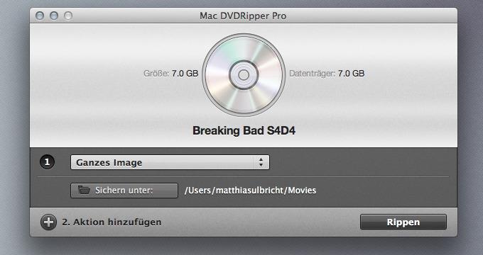 Rippen einer vollständigen DVD