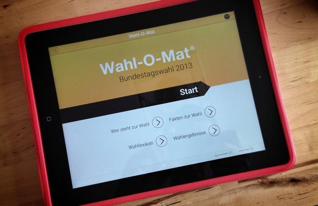 Der Wahlomat auf dem iPad