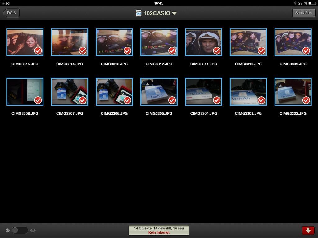 Sync der FlashAir mit Photosync