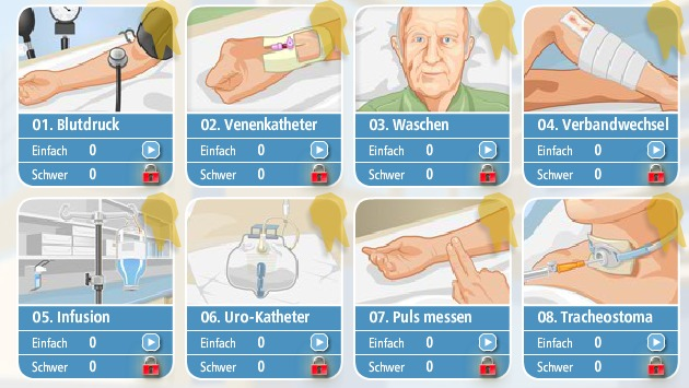 8 typische Tätigkeiten im Pflegealltag