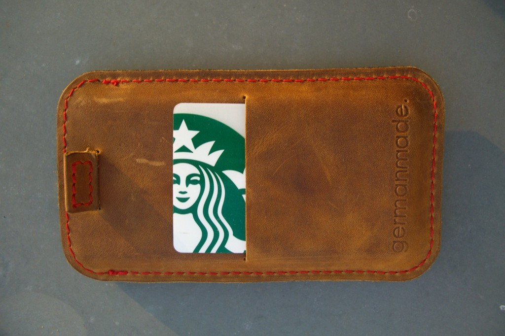 Starbucks-Card in germanmade Hülle